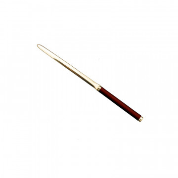 Strawberry leather knife - Conti Borbone - Paper knife in red calf leather profile