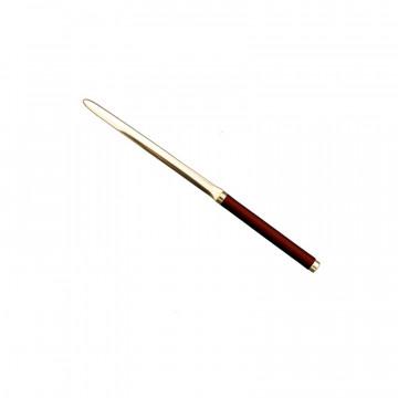 Tagliacarte in pelle Fragola - Conti Borbone - Tagliacarte in pelle di vitello rosso profilo