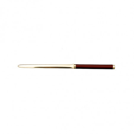 Strawberry leather knife - Conti Borbone - Paper knife in red calf leather