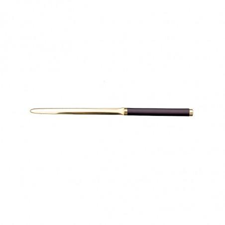 Aubergine leather knife - Conti Borbone - Paper knife in purple calf leather