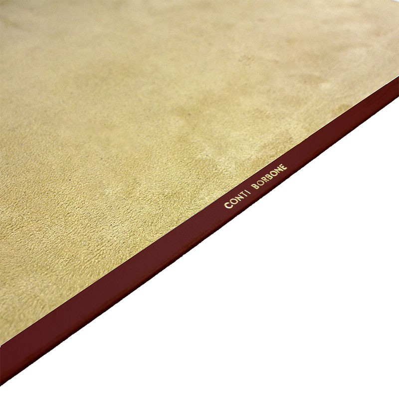 Ruby leather desk pad, burgundy calf leather - Conti Borbone - Customizable mat - Brand