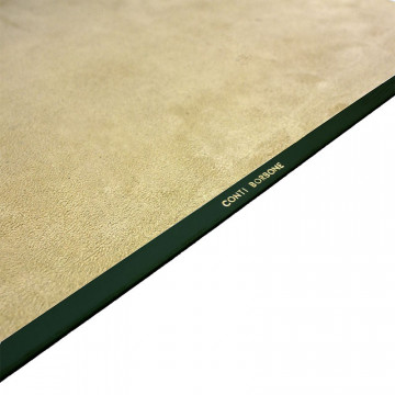Pino leather desk pad, Green calf leather - Conti Borbone - Customizable mat - Brand