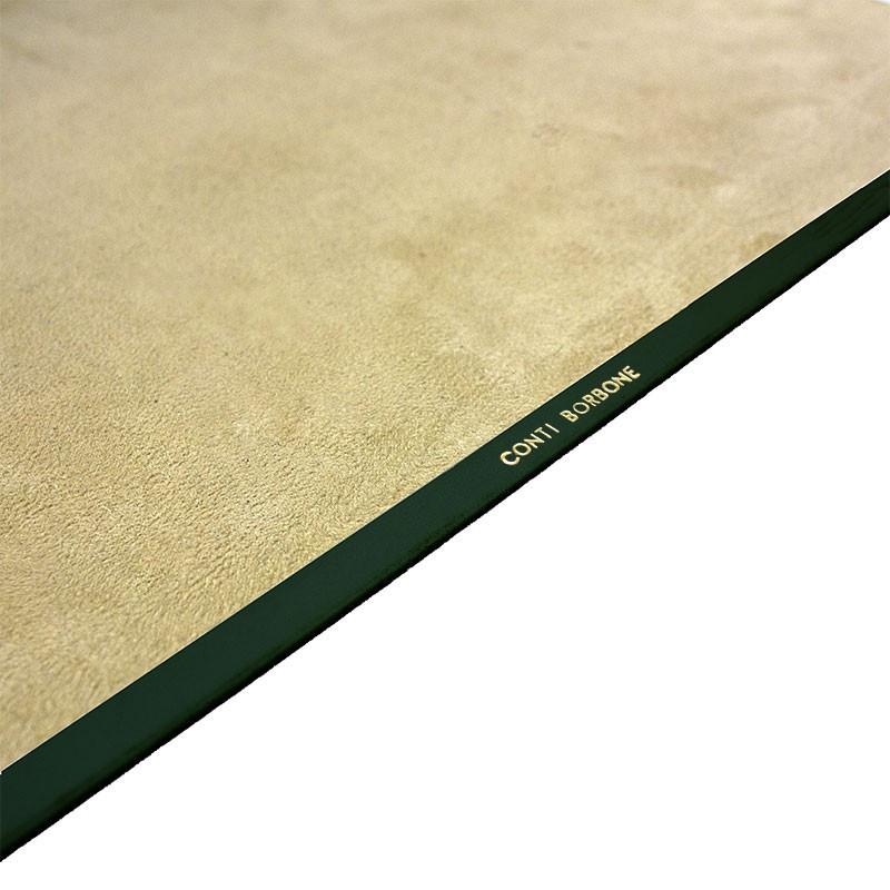 Pino leather desk pad, Green calf leather - Conti Borbone - Customizable mat - Brand