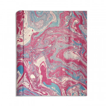 Photo album in marbled paper violet blue white Aurora - Conti Borbone - Front standard