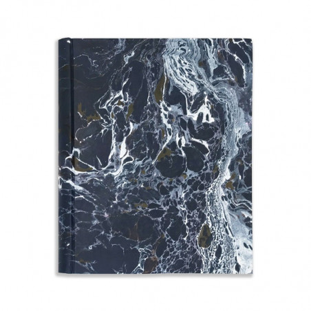 Photo album in marbled paper blue, red and white Andrea - Conti Borbone - Front standard