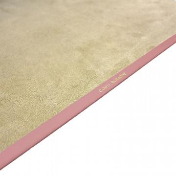 Camelia leather desk pad, pink calf leather - Conti Borbone - Customizable mat - 150 decoration - brand