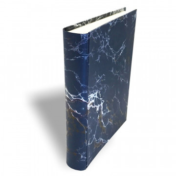 Photo album in marbled paper blue, red and white Andrea - Conti Borbone - Standard spine