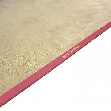 Fuxia leather desk pad, pink calf leather - Conti Borbone - Customizable mat - 150 decoration - Brand