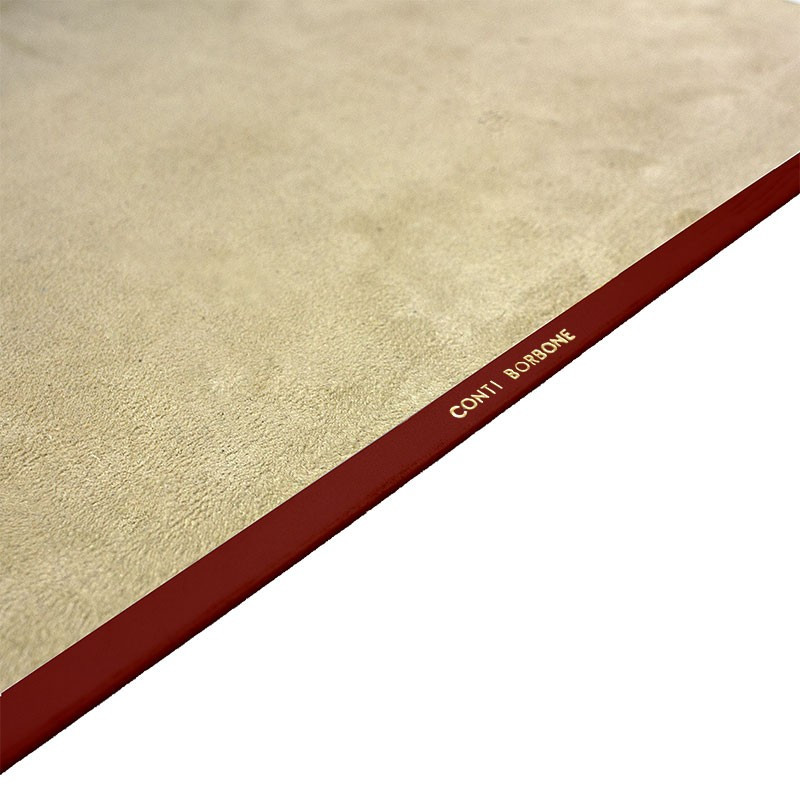 Strawberry leather desk pad, red calf leather - Conti Borbone - Customizable mat - 150 - Brand