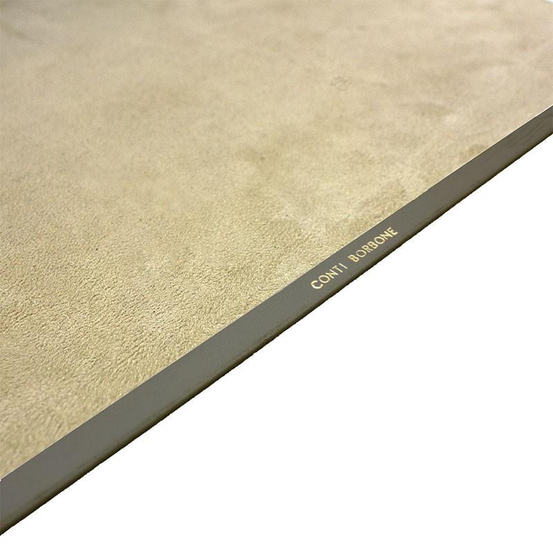 Graphite leather desk pad, gray calf leather - Conti Borbone - Customizable mat - Brand