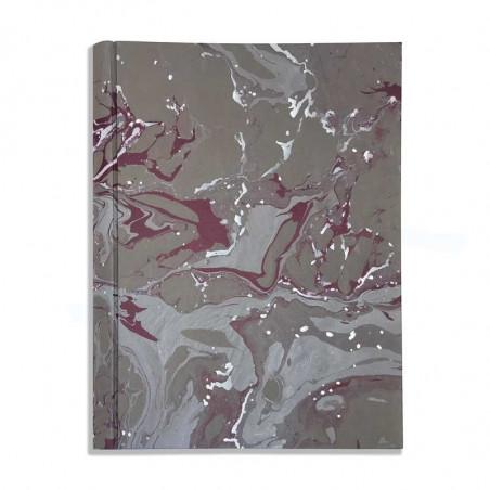 Album foto in carta marmorizzata grigio, bianco e viola leonardo - Conti Borbone - fronte standard