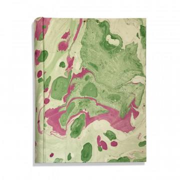 Album foto in carta marmorizzata verde, bianco e viola Valentina - Conti Borbone - fronte standard