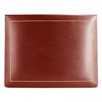 Cofanetto pelle Fragola in pelle di vitello liscio rosso - Conti Borbone - decorazione in oro - alto