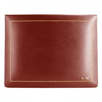Cofanetto pelle Fragola in pelle di vitello liscio rosso - Conti Borbone - decorazione in oro - stampatello - alto