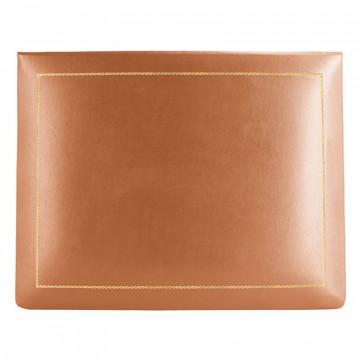 Cofanetto pelle Zucca in pelle di vitello liscio arancione - Conti Borbone - decorazione in oro - alto