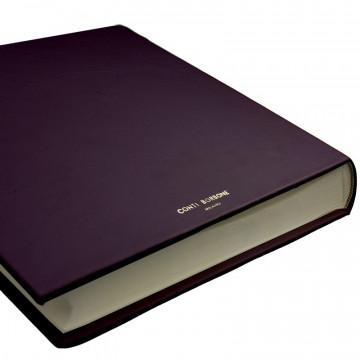 Aubergine leather photo album - Conti Borbone - violet calskin - brand