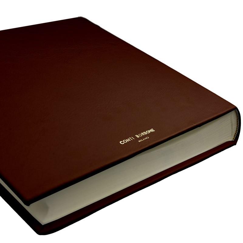 Cuoio leather photo album - Conti Borbone - brown calskin -  brand