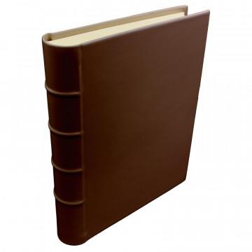 Cuoio leather photo album - Conti Borbone - brown calskin - Standard - spine