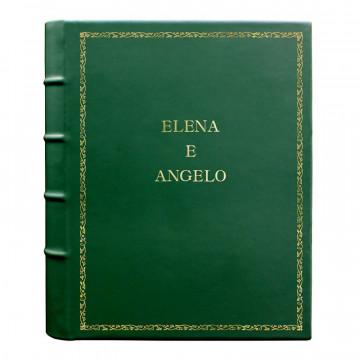 Album foto pelle Pino - Conti Borbone - Pelle di vitello verde - Standard - 27 - stampatello