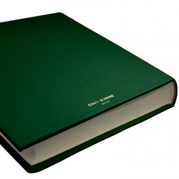 Pino leather photo album - Conti Borbone - green calskin - brand