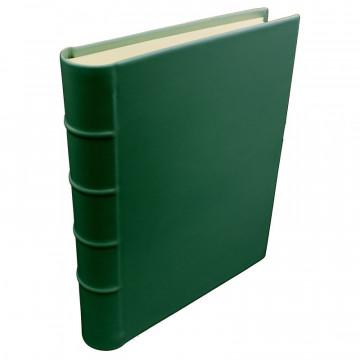 Pino leather photo album - Conti Borbone - green calskin - Standard - spine