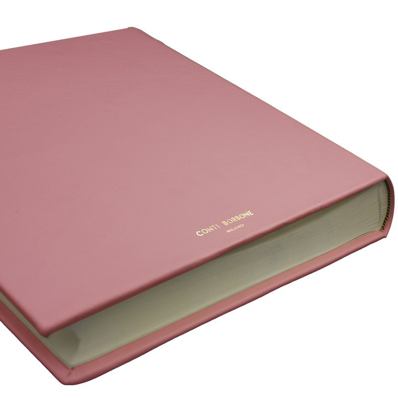 Camelia leather photo album - Conti Borbone - pink calskin - brand