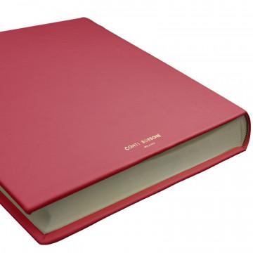 Fuchsia leather photo album - Conti Borbone - pink calskin - brand