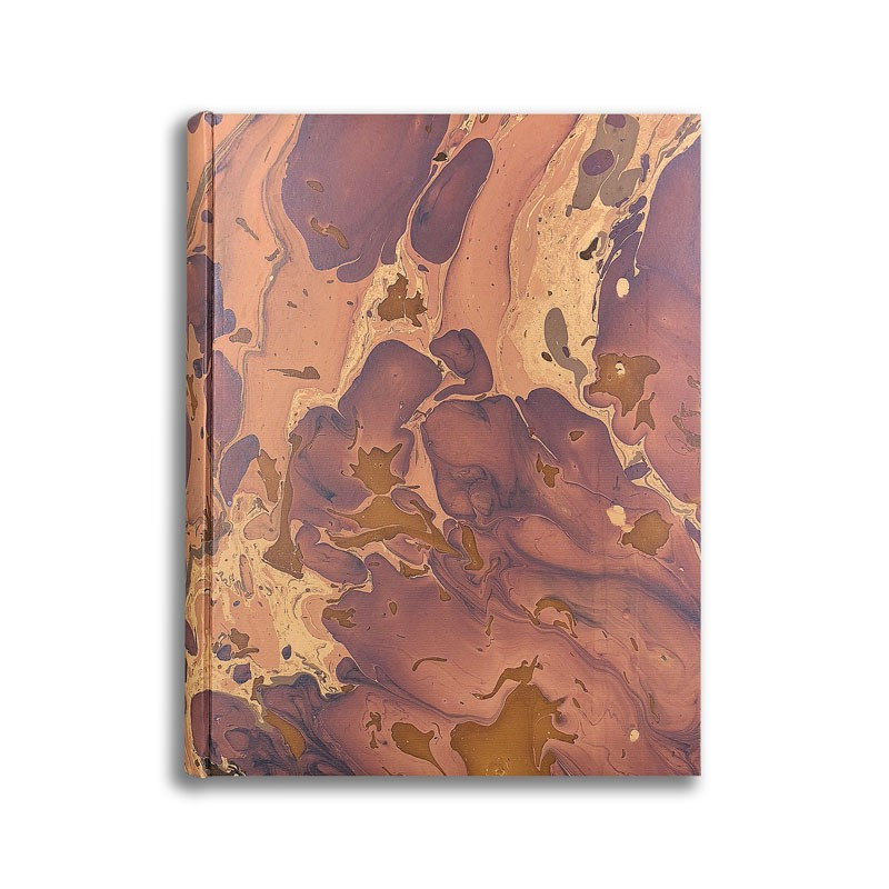 Photo album in marbled paper brown Bruno - Conti Borbone - standard front