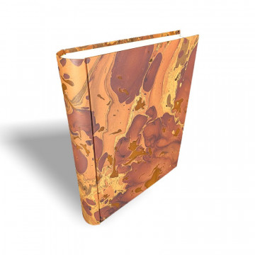 Photo album in marbled paper brown Bruno - Conti Borbone - standard spine