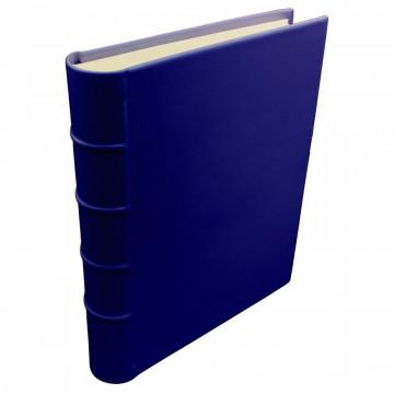 Album foto pelle Bluette - Conti Borbone - Pelle di vitello blu - Standard - dorso