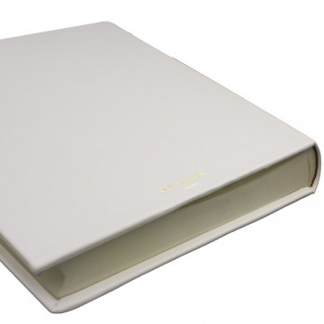 Ice leather photo album - Conti Borbone - white calskin - brand