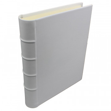 Ice leather photo album - Conti Borbone - white calskin - Standard - spine