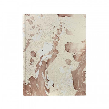 Photo album Matteo in marbled paper brown and beige - Conti Borbone - standard