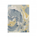 Photo album Salvo in marbled paper blue and mustard - Conti Borbone - standard