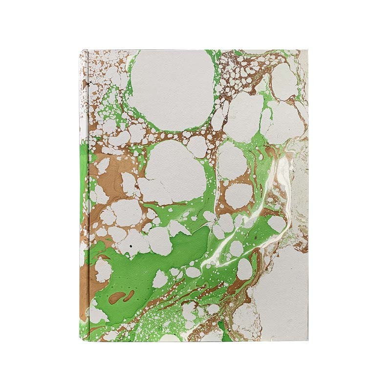 Photo album Maya in marbled paper brown, green, white and gray - Conti Borbone - standard