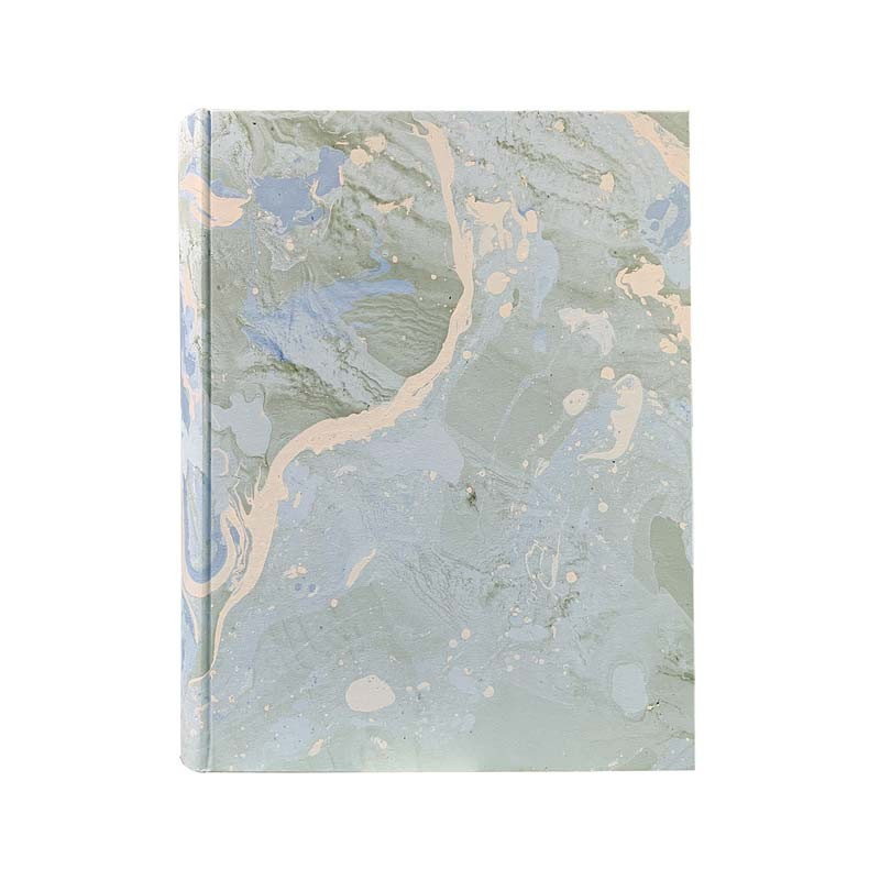 Photo album Arctic in marbled paper light blue, green, white and gray - Conti Borbone - standard
