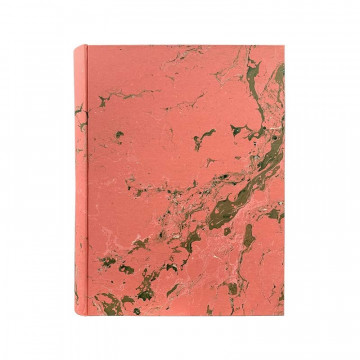 Photo album Mia in marbled paper pink, green, white - Conti Borbone - standard