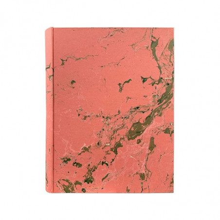 Photo album Mia in marbled paper pink, green, white - Conti Borbone - standard
