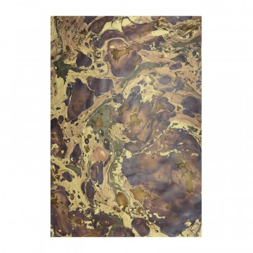 Handmade marbled paper in brown Bruno - Conti Borbone - Milano Italy