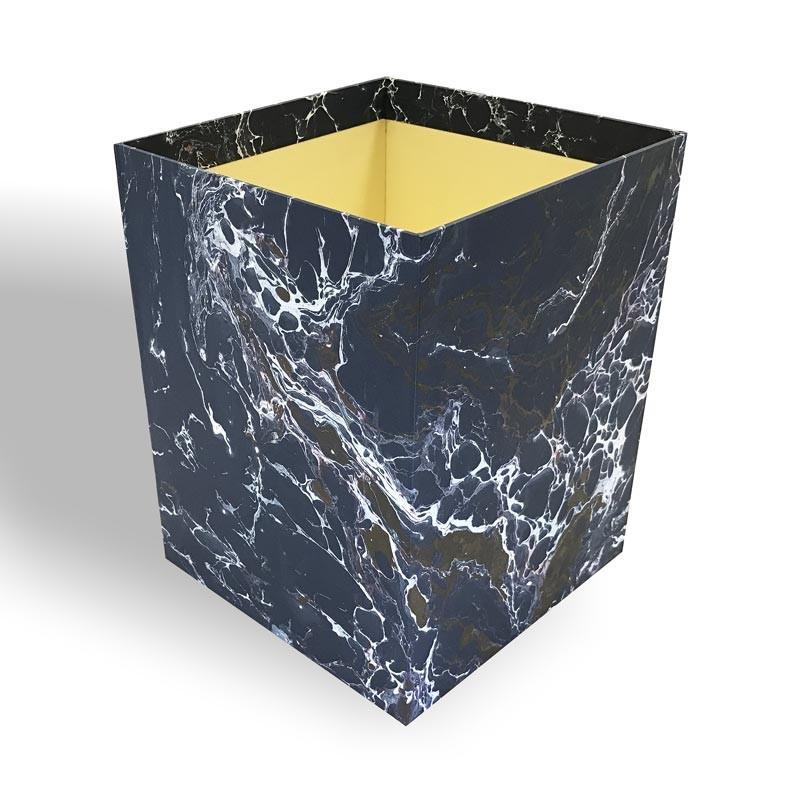 Gettacarte in carta marmorizzata a mano Andrea - Conti Borbone - Milano Italia