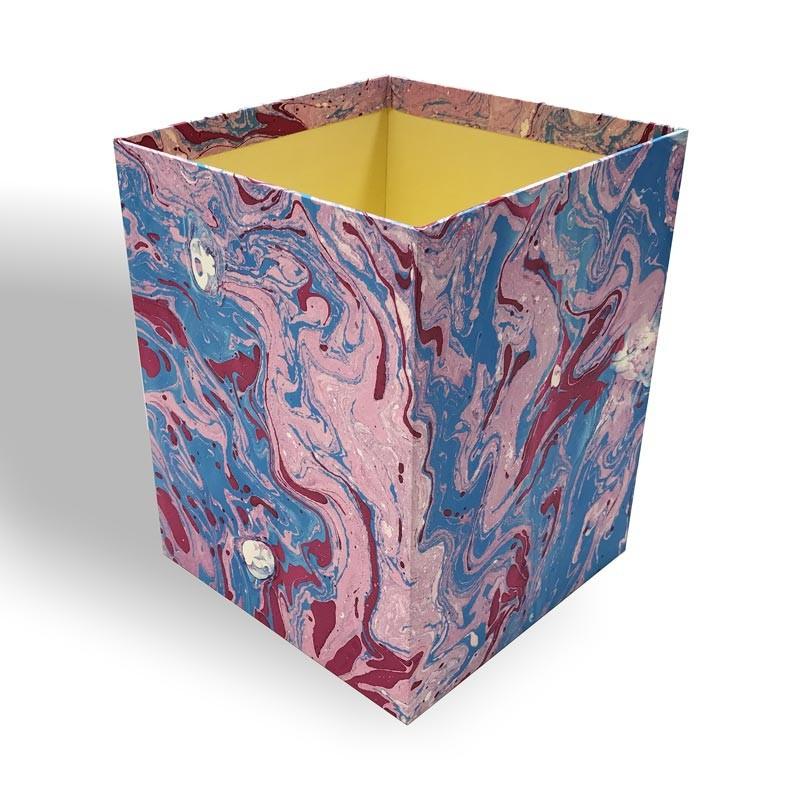Gettacarte in carta marmorizzata a mano Aurora - Conti Borbone - Milano Italia