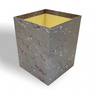 Waste paper basket in hand-marbled paper Leonardo - Conti Borbone - Milan Italy