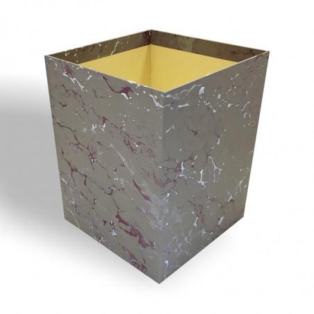 Gettacarte in carta marmorizzata a mano Leonardo - Conti Borbone - Milano Italia