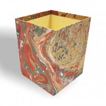 Gettacarte in carta marmorizzata a mano Camen - Conti Borbone - Milano Italia