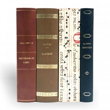 Gettacarte libri finti in pelle  - Conti Borbone - Milano Italia