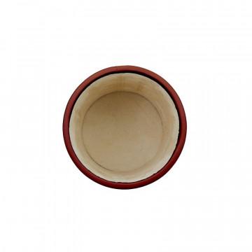 Portapenne in pelle Rubino - Conti Borbone - porta penne in pelle di vitello bordeaux alto