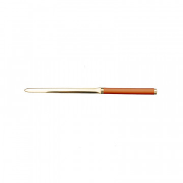 Pumpkin leather knife - Conti Borbone - Paper knife in orange calf leather