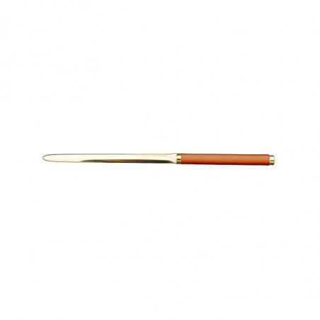 Pumpkin leather knife - Conti Borbone - Paper knife in orange calf leather