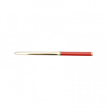 Coral leather knife - Conti Borbone - Paper knife in pink calf leather