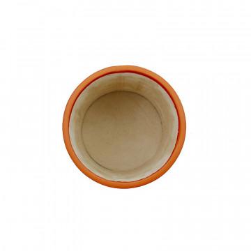 Portapenne in pelle Zucca - Conti Borbone - porta penne in pelle di vitello arancione